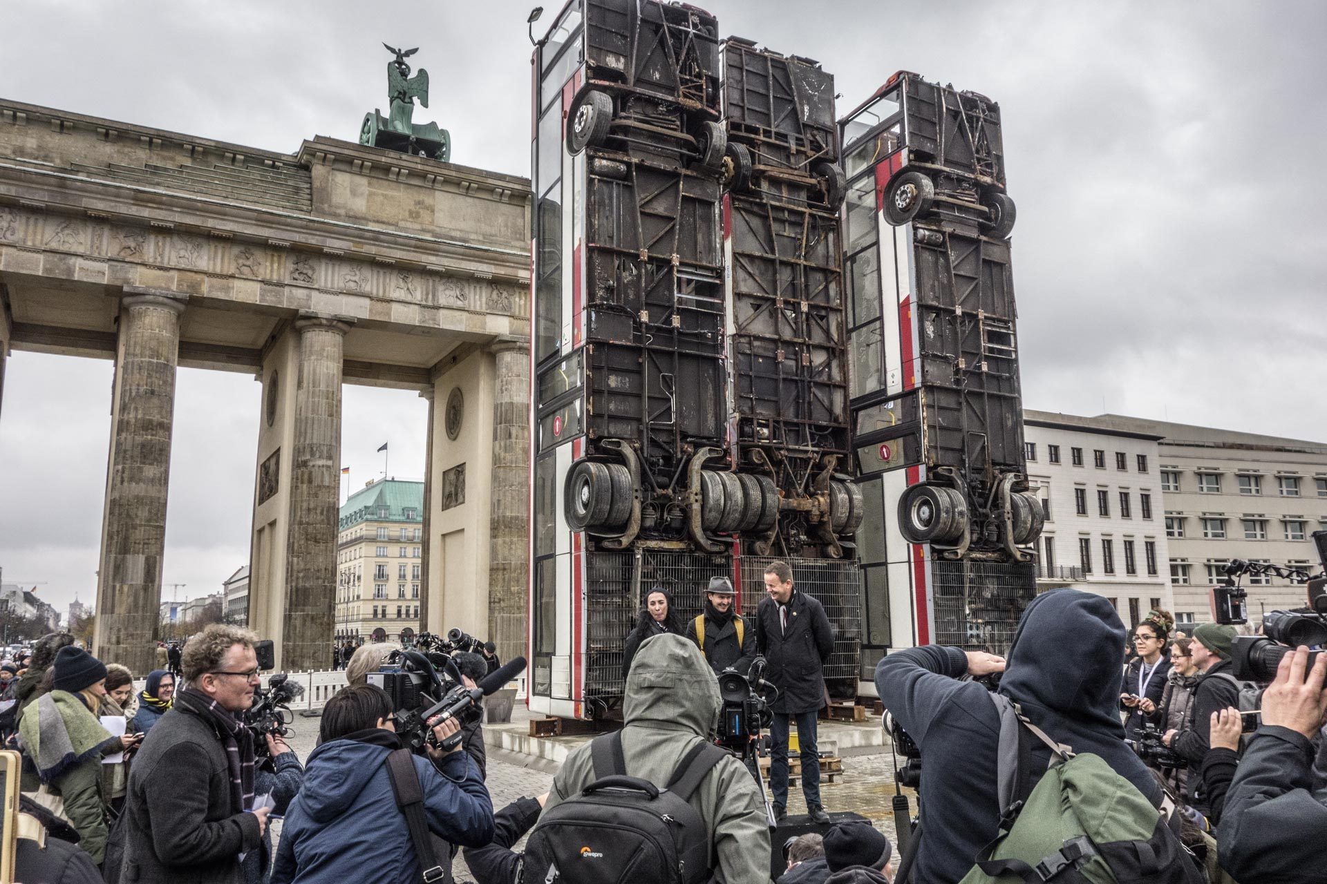 The 3 buses of Monument Berlin under construction